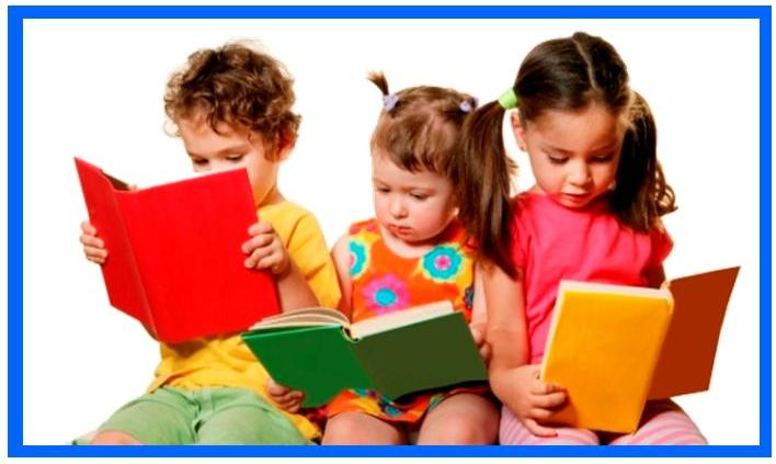 3 children reading